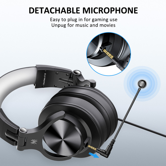 Oneodio Wired Gaming Headset Gamer 3.5mm Over-Ear Stereo Gaming Headphones With Detachable Microphone For PC Computer PS4 Phone 3