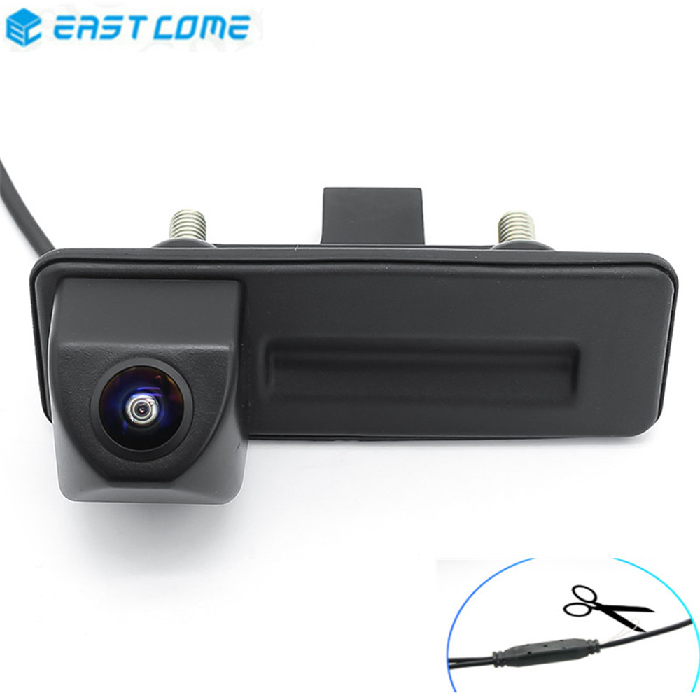 Reverse Parking 1080P Car Rear View Camera Trunk Handle For Volkswagen Skoda Fabia Octavia Yeti RoomsterAudi A1 A3 Car Camera