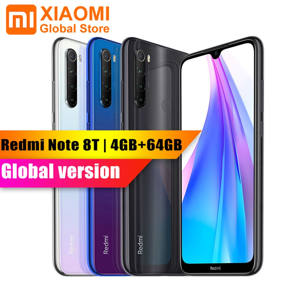 Global Version Xiaomi Redmi Note 8T 4GB 64GB Mobile Phone Snapdragon 665 NFC 18W Quick Charge 6.3 48MP Camera 4000mAh Smartphone