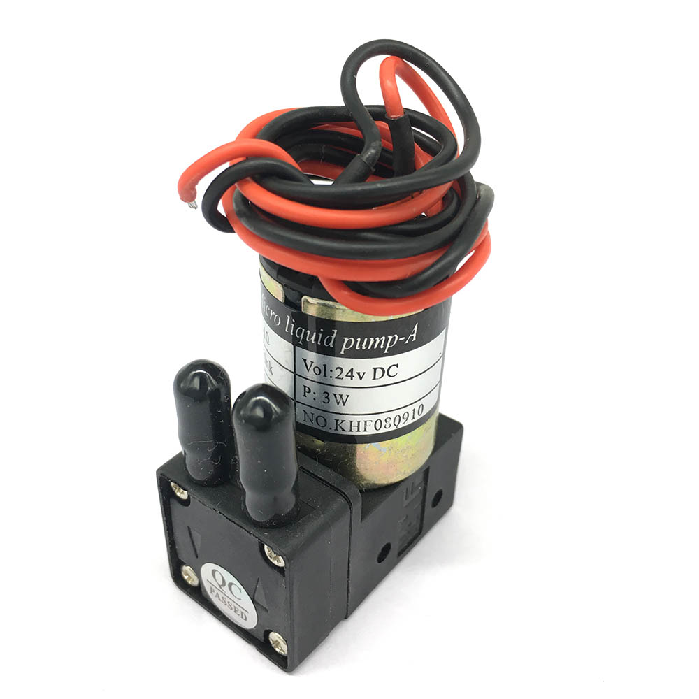 KHF Small Ink Pump 24VDC 3W 100-200ML/min Micro Diaphragm Liquid Pump For Large Format Eco Solvent Printers