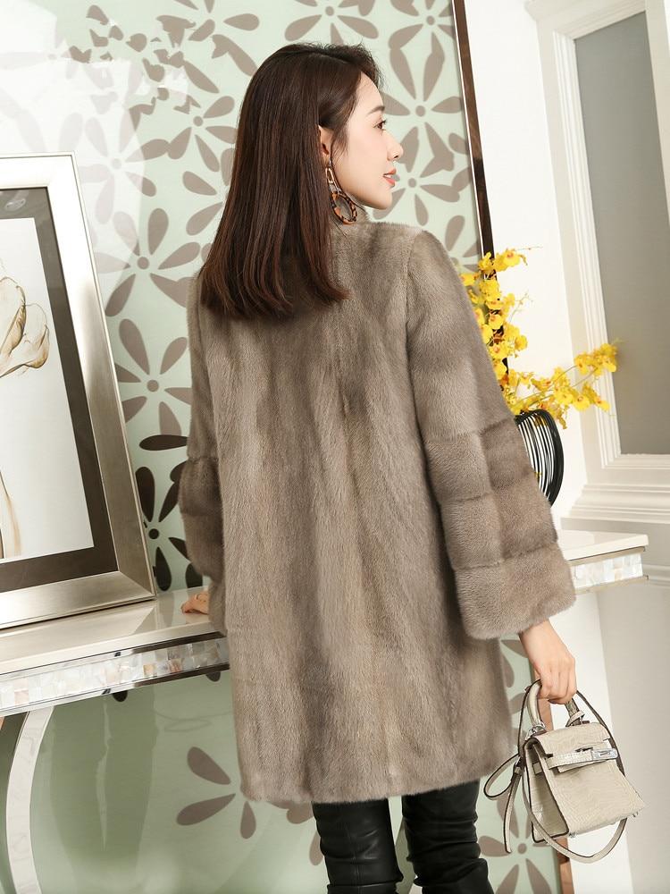Real 2020 Mink Fur Coat Female Luxury Long Jackets Winter Jacket Women Natural Full Pelt Fur Coats Chaqueta Mujer MY3973 S