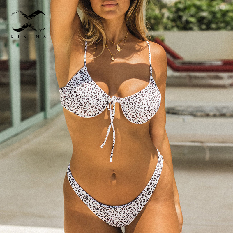 High Cut Bikini Set String Swimsuit Female Summer Bathers Leopard Print Bikini 2020 Fashion Swimwear Women Triangle Biquini New