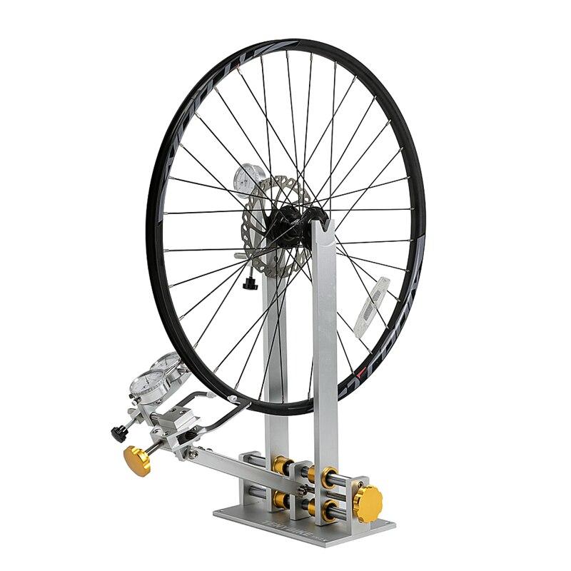 PROFESSIONALE di Biciclette RUOTA CENTRARUOTE STAND con DIAL INDICATOR GAUGE SET per La Regolazione Cerchi MTB Della Bici Della Strada Ruota di Strumenti di Riparazione