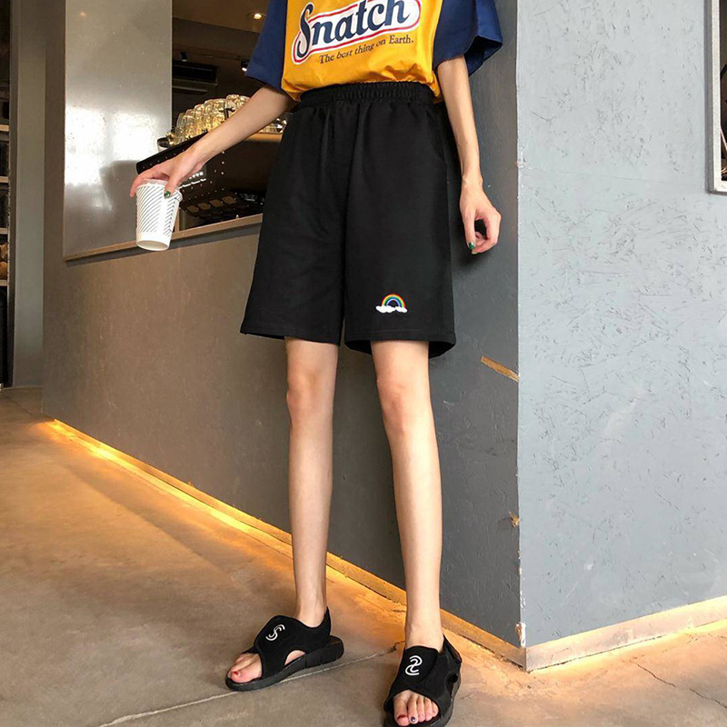 High Waist Shorts Women Summer Casual Short Pants New 2020 Fashion Korean Style Loose Comfortable Shorts Short Feminino P476