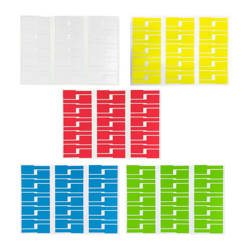 30Pc Cable Labels Sticker Waterproof Identification Tags Work With Laser Printer