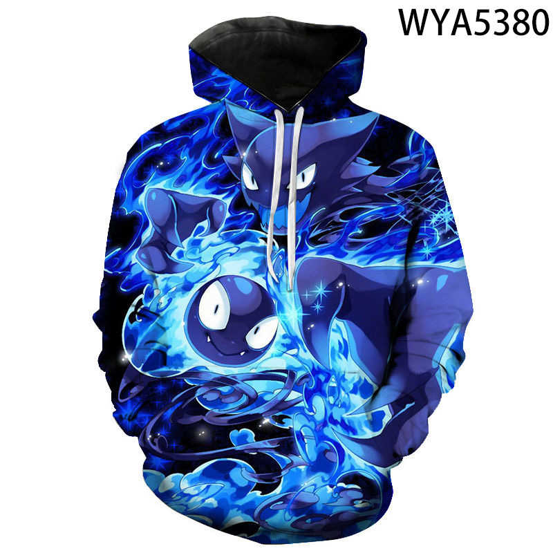 2020 Fall Winter Games Pokemon Men Women Hoodie Long Sleeve 3d Printed Sweatshirt Kids Fashion Casual Cool Pullover Coat 2