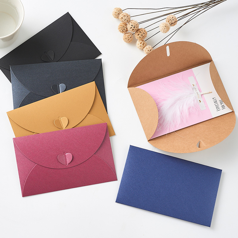 Manufacturers Pearl Paper Envelope Customizable Creative Ai Heart·traeh Kou Membership Card Postcard Storage Envelope-Bronze Log