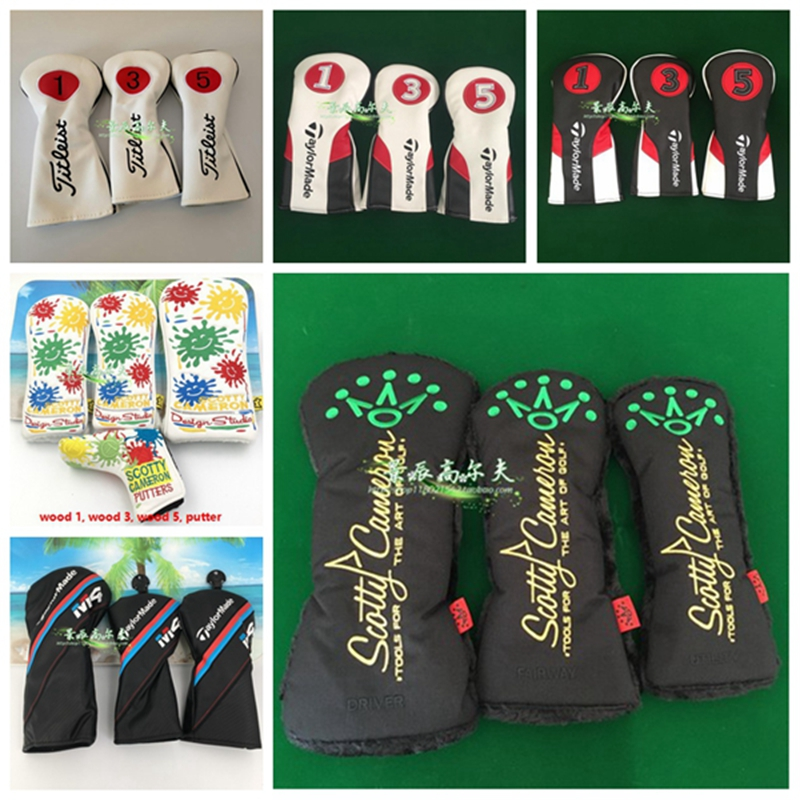 Accessories Headcovers Set For Wood#1 Wood#3 Wood#5 Headcover Wood Clubs Covers Cover Set Headcovers Wood 1 3 5 Sets