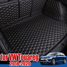 Bandeja protectora de suelo para maletero de coche, tapete para maletero, Alfombra de maletero, para Volkswagen VW Touareg 2018 2019 2020 2021