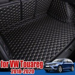 Car Boot Tray Floor Protector for Volkswagen VW Touareg 2018 2019 2020 2021 Cargo Liner Boot Carpet Pad VW Touareg Trunk Mat