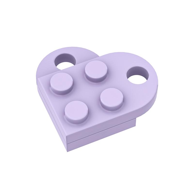 В форме сердца блоки Запчасти DIY 3176 изменение мс 2x2 Совместимость Собирает Частицы логотип развивающие Tech Запчасти игрушки