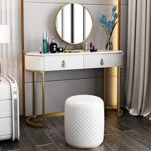 Для женщин принцесса девушка белый золотой ЕС Железный макияж комод Chiar зеркало Настольный набор домашняя спальня ужин Свадебная вечеринка табурет мебель