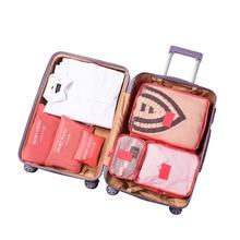 Hot Sale Travel Organizer Storage Bag Set Clothes Bags Pouch Suitcase Home Closet for 6 PCS