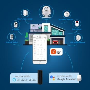 KERUI Tuya Smart Home Security WIFI Alarm System Works With Alexa 120dB Motion Detector Door Sensor Surveillance Camera 5