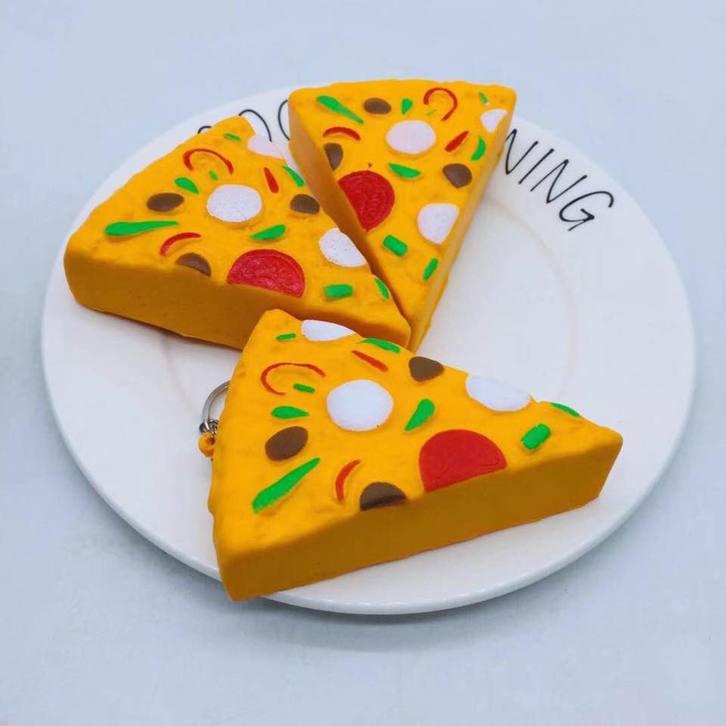 8cm Mini Yummy Pizza Slow Rising Cream Scented Charm Stress Reliever Toy Funny Brinquedos Toys For Children игрушки антистресс