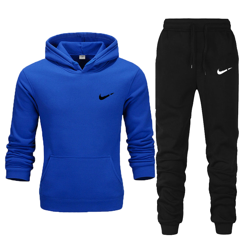 New Brand Mens Hoodies Running Sets Male Sports Cl