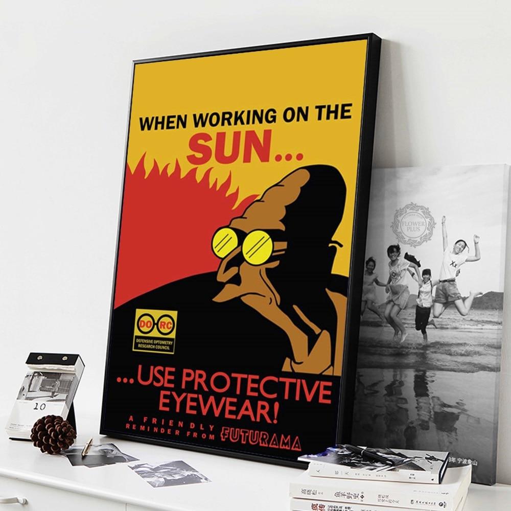 Futurama Cartoon Bender John Zoidberg Funny Classic Art Painting Silk Canvas Poster Wall Home Decor