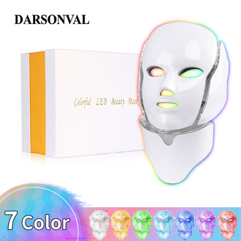 DARSONVAL 7 Colors Photon Led Facial Mask Light Therapy Face Phototherapy Device Whitening Wrinkle Acne Skin Care Electric Mask