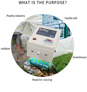 Image 5 - Mist cooling system with humidity controller 20pcs nozzle. Humidifier for Greenhouse & reptile Humidifier.