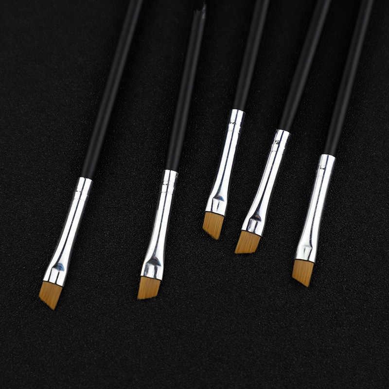2 pçs escova de maquiagem pincéis cosméticos kabuki rosto nariz escovas corretivo fundação sobrancelha delineador blush pó maquiagem ferramenta