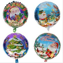2019 best-selling 18-inch Christmas aluminum balloon float helium Santa Claus party decoration
