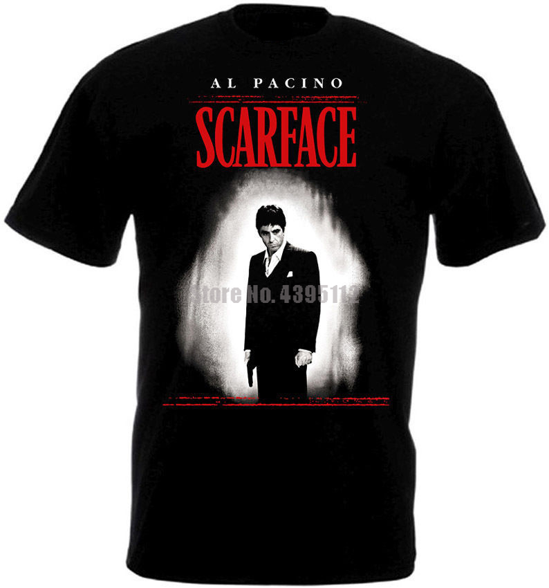 Scarface Movie Poster Men'S T Shirt Harajuku Top Tshirt Fashion 2019 Tshirts Custom T-Shirts Tops For Man