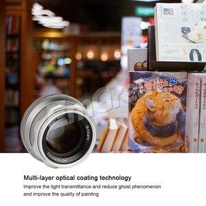 Image 4 - 7artisans lente Prime de 35mm F1.2 para Sony e mount/para Fuji XF APS C, lente fija de enfoque Manual para cámara sin espejo A6500 A6300 X A1