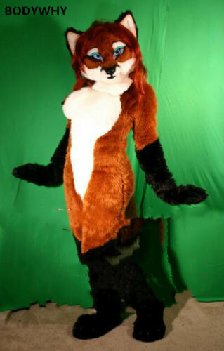 Miss Fox Mascot Costume Fursuit Suit Cosplay Party Fancy Dress Outfits Advertising Promotion Carnival Halloween Adults Parade #