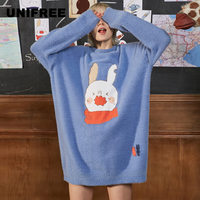UNIFREE 2019 Autumn and Winter New Sweater Woman Loose and Immortal Lazy Pull on Hair U193K707TT