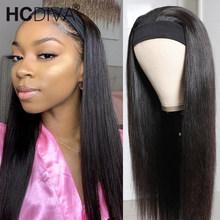 30 cal proste włosy ludzkie peruki z szal na głowę brazylijski Remy Hair150 gęstość U część peruka dla czarnych kobiet Fashion Style tanie tanio HCDIVA Remy Ludzki Włos CN (pochodzenie) Brazilian Remy Human Hair Wig Średnia wielkość Long Hair Wig 34 36 inch lace wig