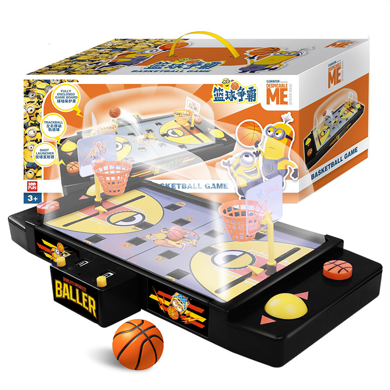 2019 plus récent Minions bureau basket-ball Football Hockey Football Pachinko Interaction bataille jeu coordonné Train enfants jouets