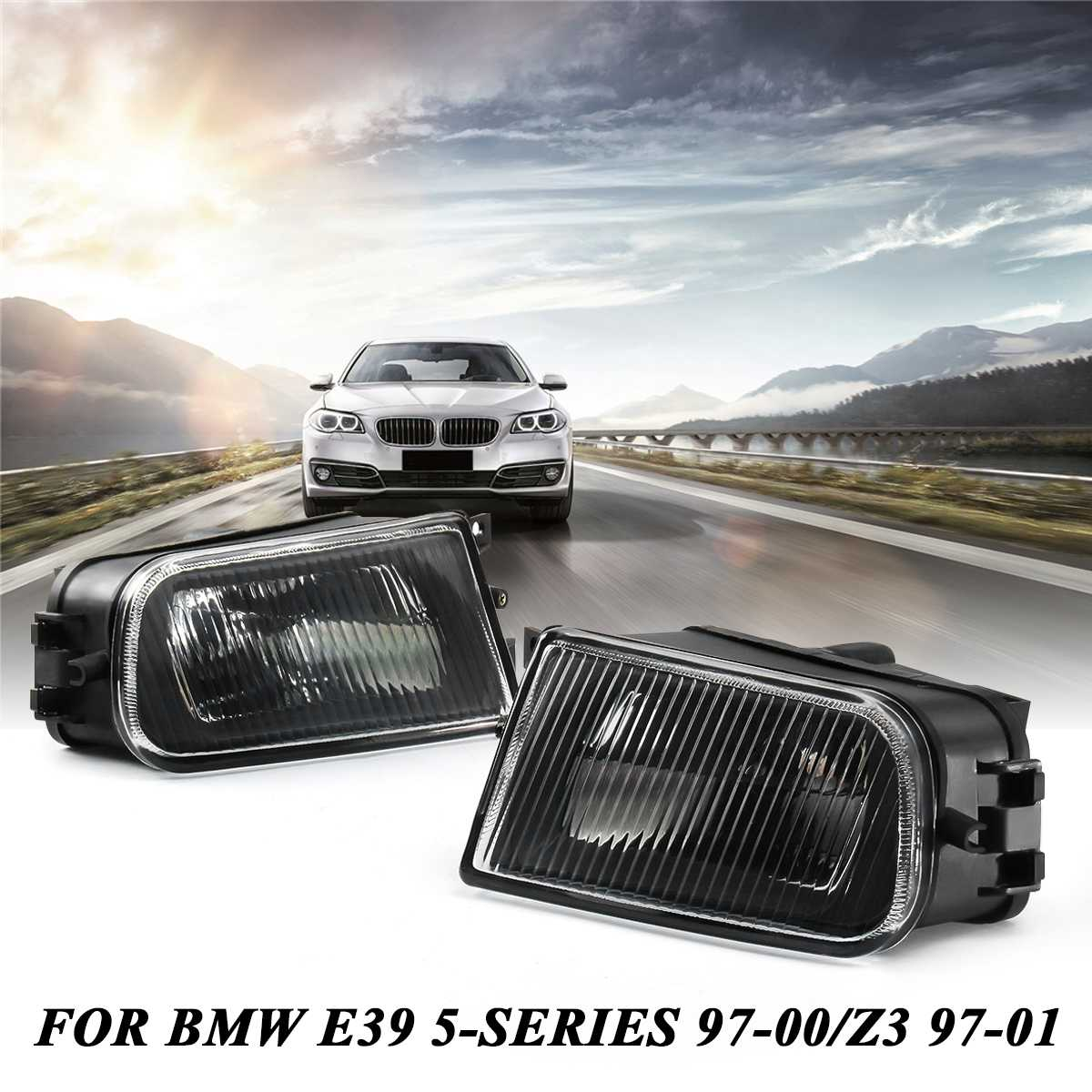 1 Pair Clear Front Driving Bumper Fog Light Housing For BMW E39 5 Series 528i  540i 1997-2000 / Z3 1997-2001 Replacement Parts