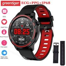 Reloj inteligente L8 IP68 para Hombre, Reloj inteligente deportivo resistente al agua, con presión arterial mediante PPG ECG y control del ritmo cardíaco