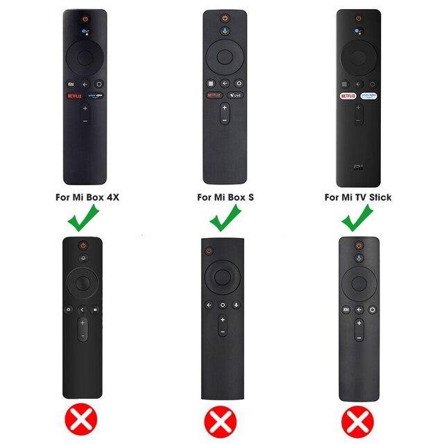 SIKAI Remote Case for Xiaomi Mi Box S 4X Mi TV Stick Control Cover Silicone Shockproof Skin-Friendly Protector 2