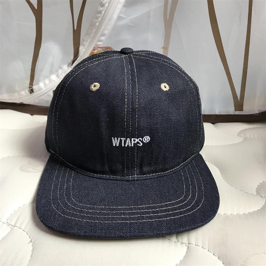 Image 4 - WTAPS джинсовая бейсбольная кепка с плоским краем, мужская и женская Кепка с вышивкой для папы, хип хоп бейсболки для водителя грузовика, кепки для гольфа, уличные регулируемые HarajukuМужские бейсболки    АлиЭкспресс
