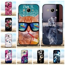 For Fundas Huawei Y3 2017 / Y5 Llite Case 3D Pattern Cat Black Cover Silicone