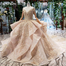 HTL151G בתוספת גודל שמלת ערב ארוך עם חצאית מכתף לפרוע שכבה אלגנטי ארוך ערב שמלות דובאי קפטן robe soirée