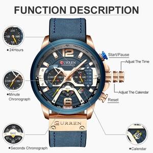 Image 3 - CURREN Luxe Merk Mannen Analoge Lederen Sport Horloges mannen Militaire Horloge Mannelijke Datum Quartz Klok Relogio Masculino 8329