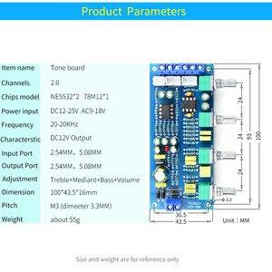Image 5 - UNISIAN Tone board NE5532, усилитель звука, hi fi, усилитель, усилитель, басовый тройной баланс, громкость, тон, эквалайзер, плата управления для усилителей, набор для творчества