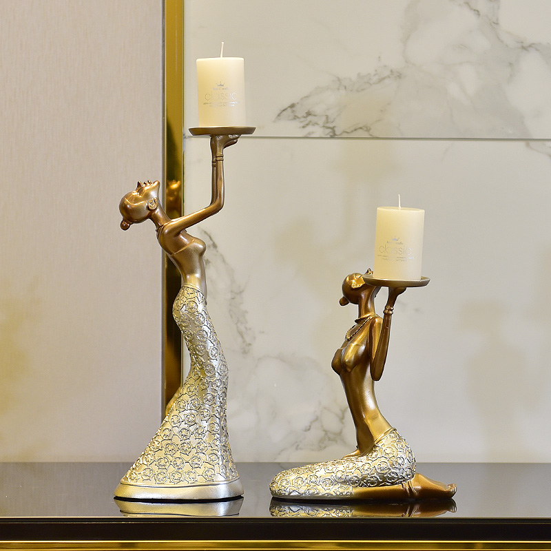 European Retro Candle Holders Dining Table Wine Cabinet Decoration Romantic Candlelight Dinner Christmas Decorations BB50ZT - 5
