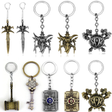 Keyring Keychain Sword Axe Hearthstone World-Of-Warcraft Frostmourne Hammer Weapon Game