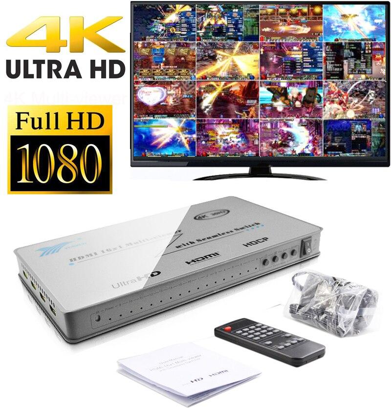16x1 HDMI Multi-Viewer Display Dello Schermo Splitter 16 In 1 Out 32 Open Per DNF Prigione In Movimento gioco di mattoni Monitor HD Video Converter