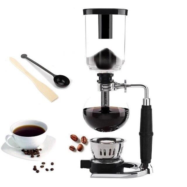 יפני סגנון לשאוב מכונת קפה תה לשאוב סיר מכונת קפה ואקום זכוכית סוג קפה מכונה מסנן Kahve Makinas 3cup 5cup