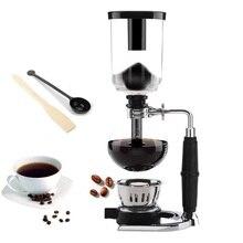 Estilo japonês sifão máquina de café chá sifão pote vácuo cafeteira tipo vidro filtro máquina café kahve makinas 3cup