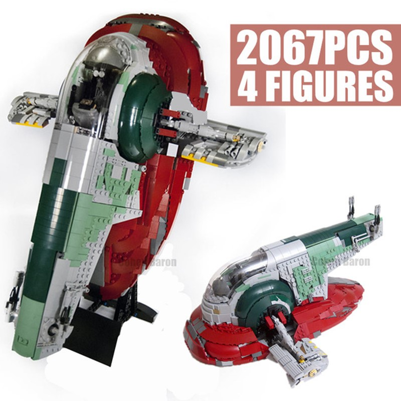 New Space Wars Series UCS Slave I NO.1 Fit Star Wars Model Building Block Bricks <font><b>05037</b></font> Toys Kits Children Kid Gifts Diy 75060 image