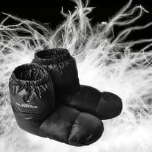 Slippers Warm-Socks Duck-Down Booties Women Outdoor for Sleeping-Bag Winter Camping