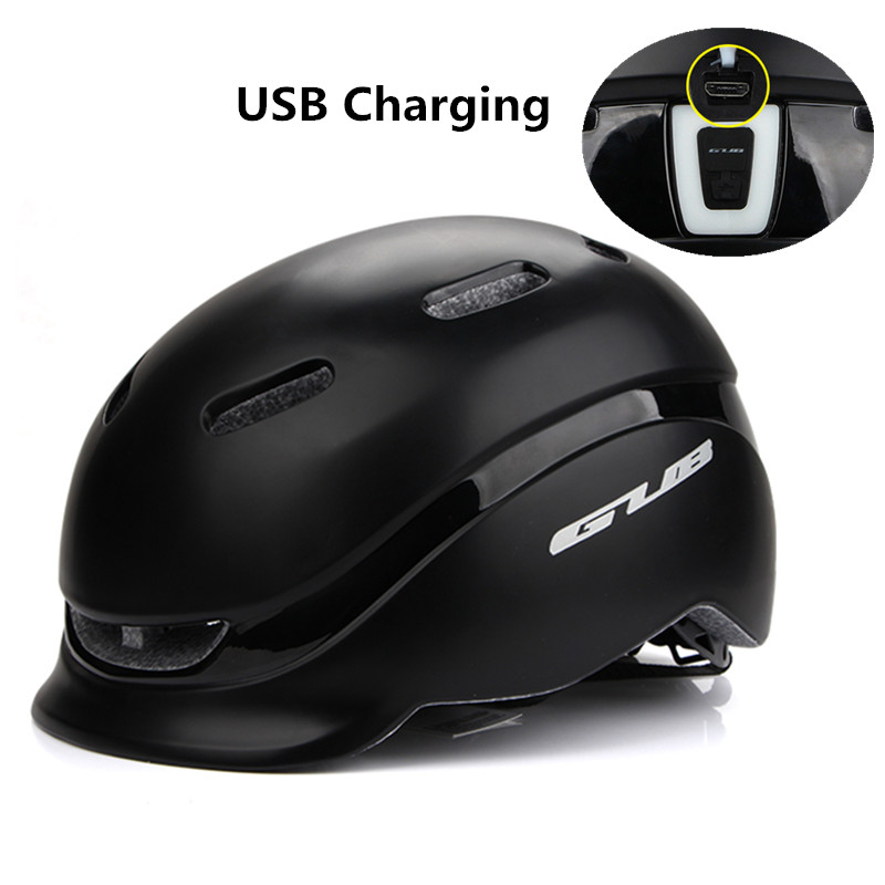 GUB City Plus Cycling Helmet with USB Charging Taillight PC+EPS Safety Bike Sports Urban Leisure Bicycle Helmet Casco Ciclismo|Bicycle Helmet| |  - title=