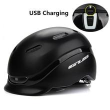 Cycling-Helmet Casco Taillight Urban Bike PC Safety City-Plus Ciclismo Sports GUB EPS