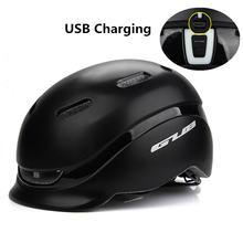 Велосипедный шлем gub city plus с usb зарядкой задний фонарь