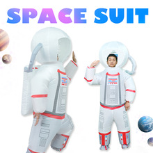 Astronaut Costume Space-Suit Cosplay Helmet Purim Inflated Woman Carnival Adult Men